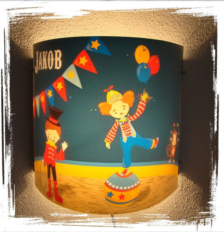 Kinder Leuchte als Wandlampe/Schlummerlicht oder Nachtlicht für Steckdose/personalisiert mit Namen Motiv Bauernhof [Energieklasse A+++] CreaDesign
