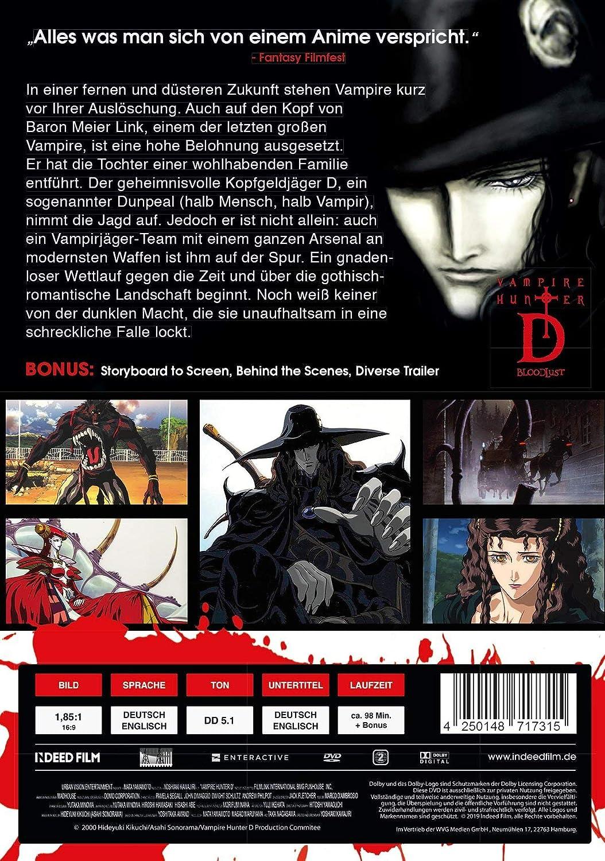 Vampire Hunter D: Bloodlust [Alemania] [DVD]: Amazon.es ...