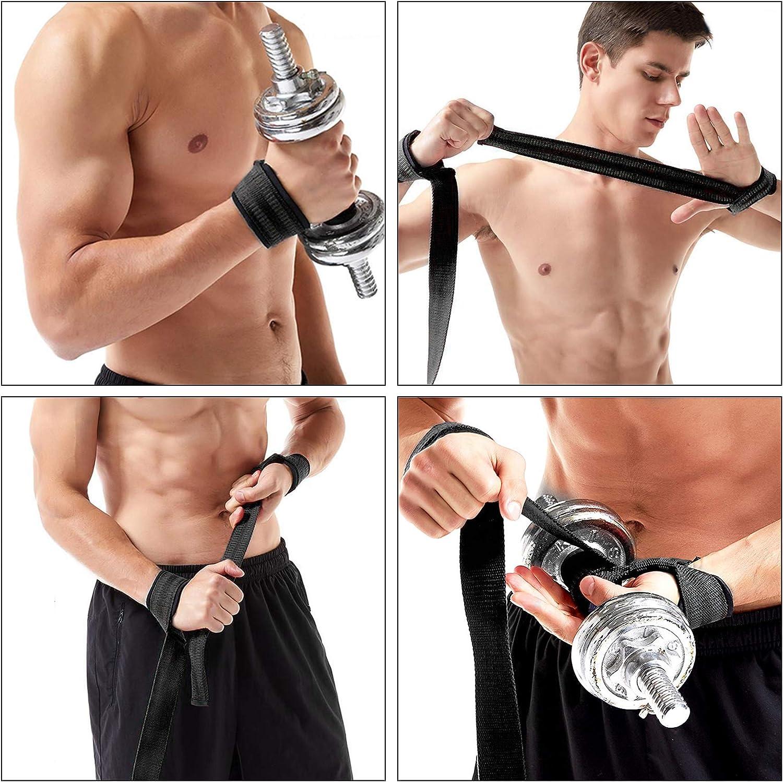 LIUHAN Profi Zughilfen 64cm 1 Paar Fitness Fachmann Standard gepolsterte Tr/äger zum Krafttraining Bodybuilding
