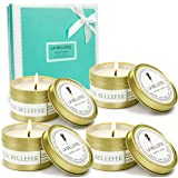LA BELLEFÉE Scented Candles Gifts for Women, Aromatherapy Candle, Natural Soy Candles for Home, Small Candles Holiday Gift Se