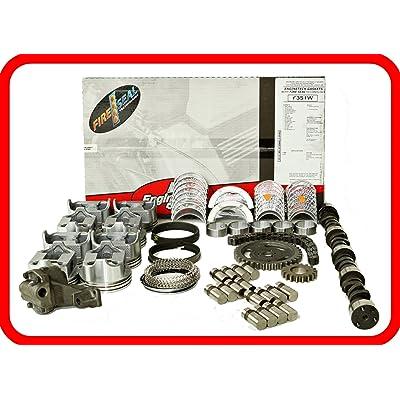 Master Engine Rebuild Kit FITS: 67-85 Chevrolet SBC 350 5.7L V8 w/Stage-4 HP Cam & Flat-Top Pistons: Automotive