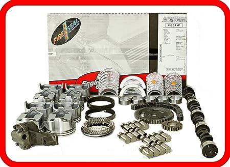 Master Engine Rebuild Kit FITS 67-85 Chevrolet SBC 350 5.7L V8 w//Stage-3 HP Cam /& Flat-Top Pistons