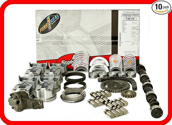 64-73 Ford FE 390 6.4L 6.4 OHV V8 w//Flat-Top Pistons Master Engine Rebuild Kit FITS