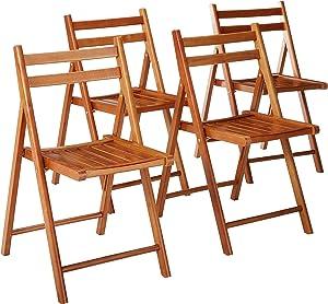 Winsome Wood 33415 Robin 4-PC Folding Set Teak Chair,