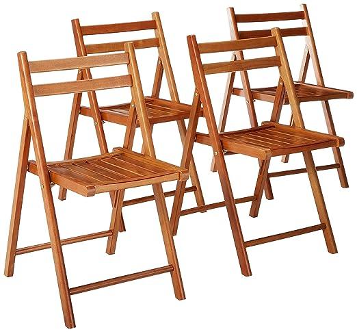 Winsome Robin Patio Outdoor - Juego de sillas Plegables (4 ...