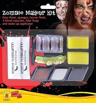 Rubies Kit Maquillaje Zombie Para Hombre Talla Unica 33668 - Maquillaje-zombie-hombre