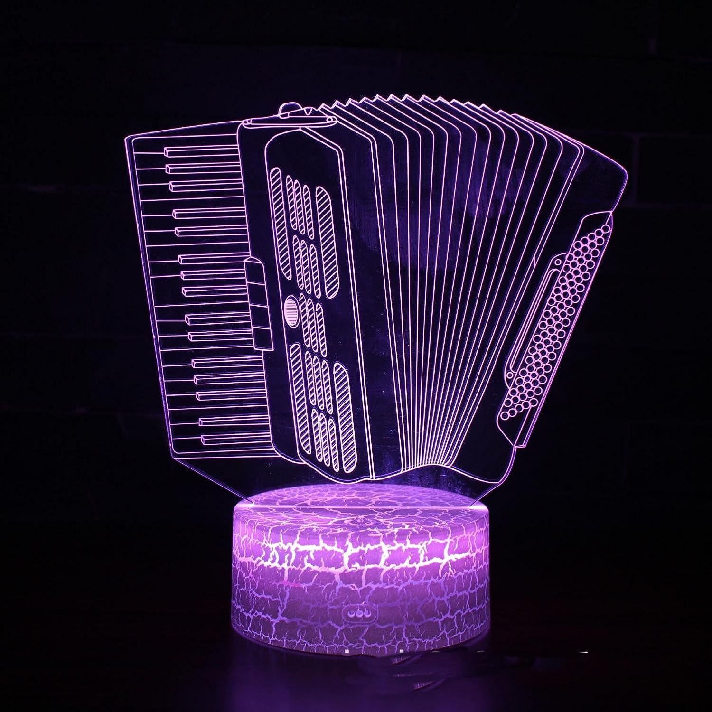 TLIGT Luz de Noche teledirigida teledirigida teledirigida Colorida del Tacto del acordeón 3D LED 433725