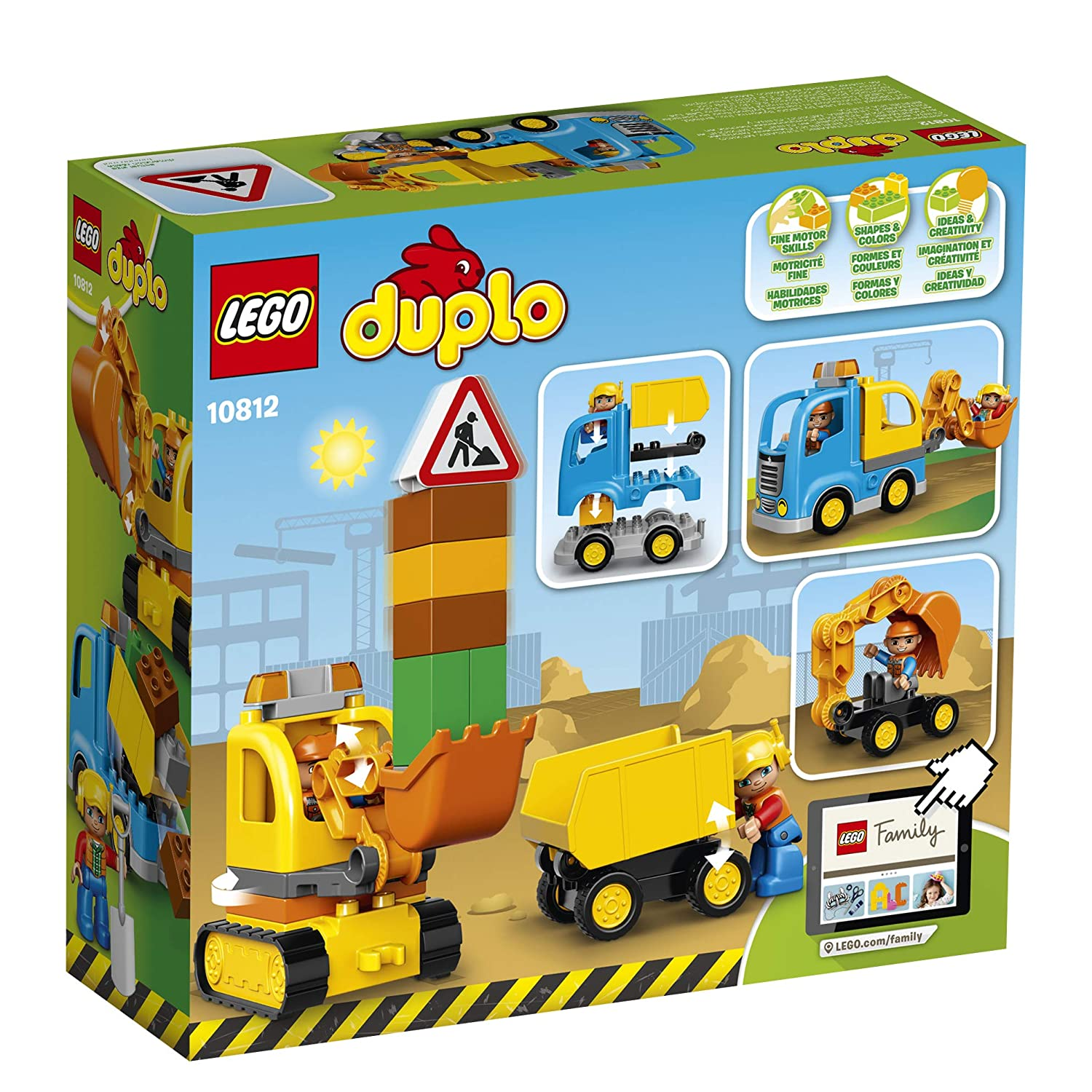 LEGO DUPLO Town Truck /& Tracked Excavator 10812 Dump Truck and Excavator Kids Construction Toy with DUPLO Construction Worker Figures 26 pieces