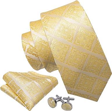 Barry.Wang Set de corbatas para hombres Bolsillos cuadrados ...