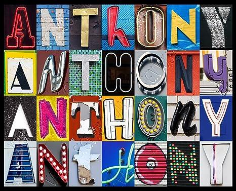 Amazon.com: Anthony personalizado con nombre Póster ...