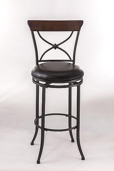 Astonishing Hillsdale Cameron 30 X Back Swivel Bar Stool In Brown Beatyapartments Chair Design Images Beatyapartmentscom
