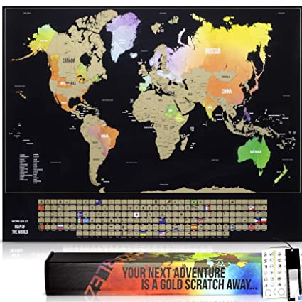 Amazon.com: Scratch Off Map of The World with States and Country ...