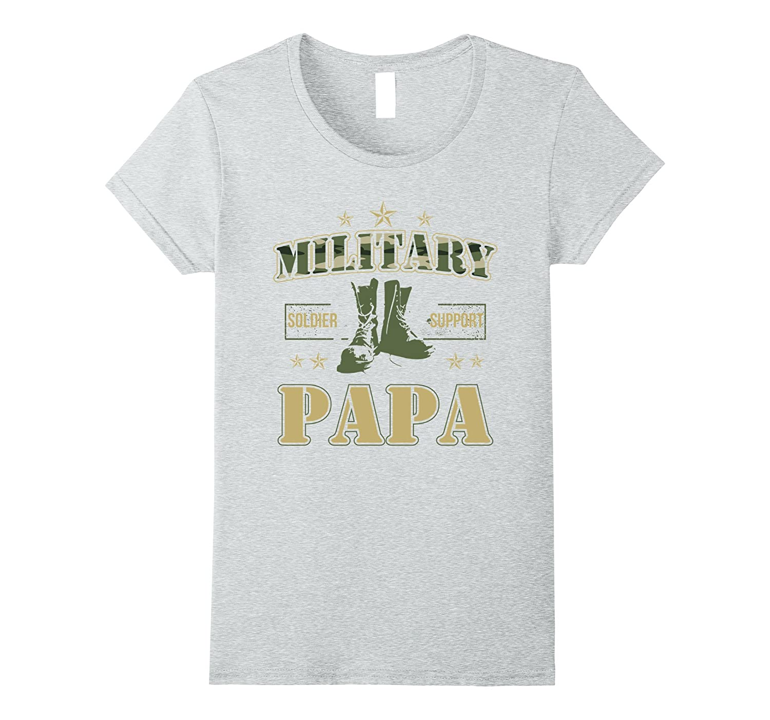 Military Papa Proudly Supporting My Soldier T-Shirt-Protee