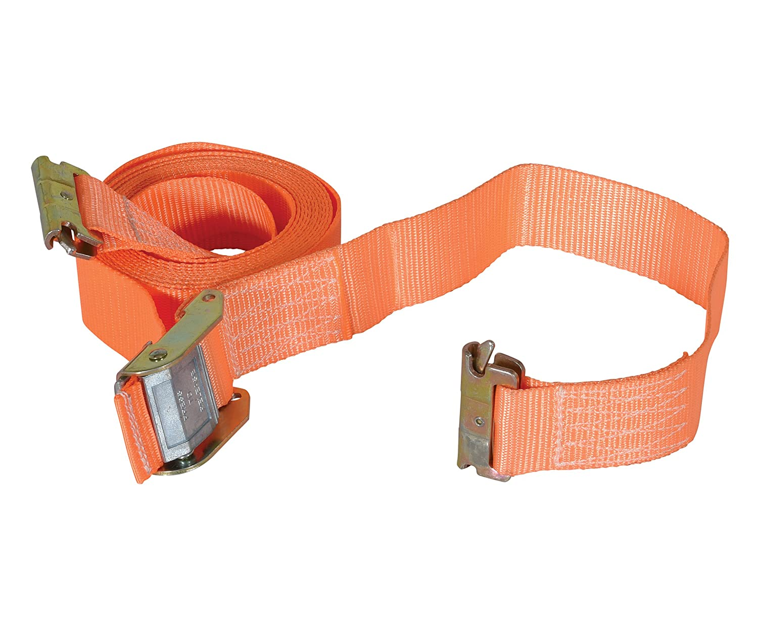 2 Width 16 Working Length 1200 lbs Capacity Vestil STRAP-16-CE Polyester E-Clip Cargo Strapping