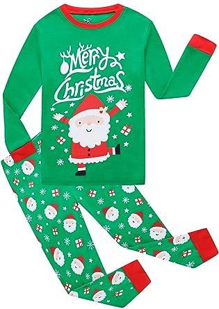 2c3face84a Little Boys Girls Christmas Cotton Pajamas Children Santa Claus PJS Gift Set  Kids Sleepwear Clothes 6t