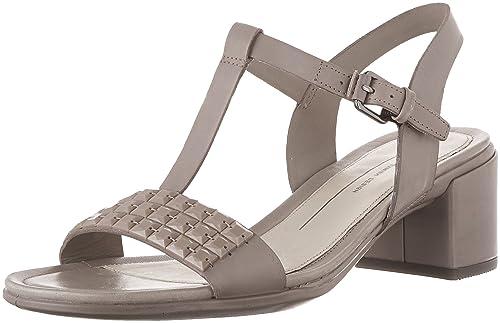 Zapatos beige de punta abierta Ecco para mujer xIvzHqn7
