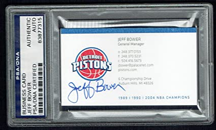 Jeff bower signed autograph auto detroit pistons gm business card jeff bower signed autograph auto detroit pistons gm business card psa slabbed colourmoves