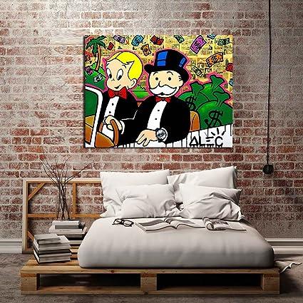 Amazon.com: Canvas HD Prints Pictures Home Decor Alec monopoly ...