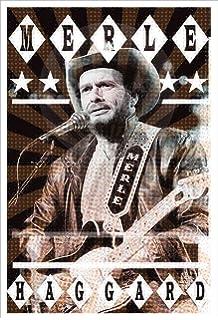 Merle Haggard Song List Incredible Mosaic Framed Print Limited Edition w//COA