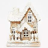 Weihnachtshaus Winterhaus weiß Beleuchtung Krippe Advent Weihnachten Variante 7