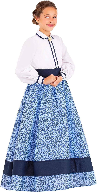 Victorian Kids Costumes & Shoes- Girls, Boys, Baby, Toddler Girls Prairie Dress Costume $29.99 AT vintagedancer.com