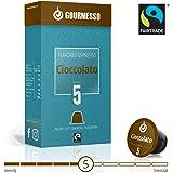 Gourmesso Soffio Cioccolato (Chocolat) - 10 Capsules de café compatibles Nespresso® - Café équitable
