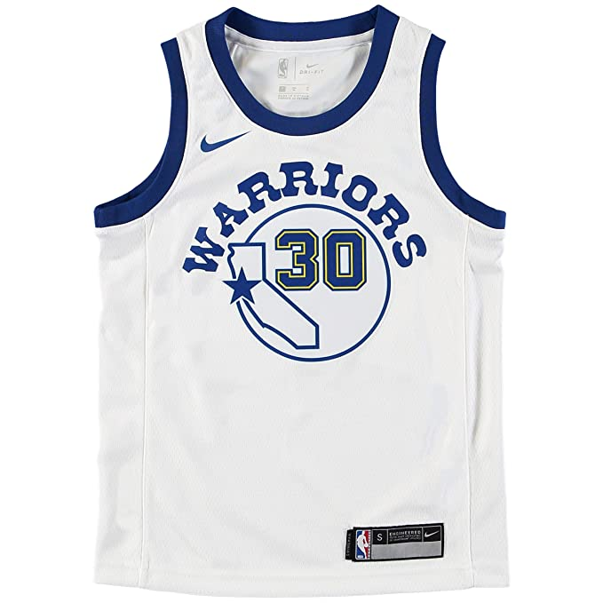 Nike NBA Golden State Warriors Stephen Curry SC30 2017 2018 Harwood Classic Edition HWC Jersey Oficial, Camiseta de Niño: Amazon.es: Ropa y accesorios
