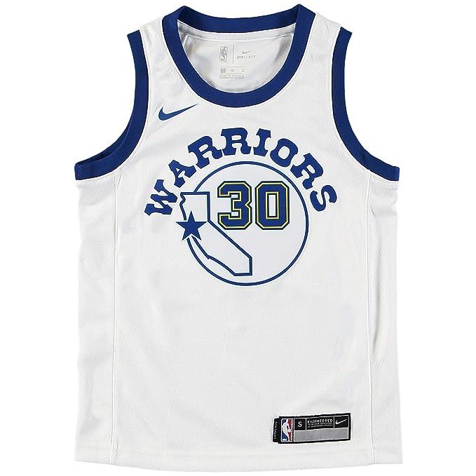 Nike NBA Golden State Warriors Stephen Curry SC30 2017 2018 Harwood Classic Edition HWC Jersey Oficial, Camiseta de Niño: Amazon.es: Ropa y accesorios