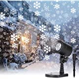 Christmas Snowflake Projector Lights Led Snowfall Show Outdoor Waterproof Landscape Decorative Lighting for Xmas Holiday…
