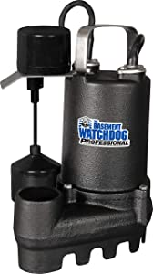 THE BASEMENT WATCHDOG Model SI-50V 1/2 HP 4,300 GPH at 0 ft. and 3,600 GPH at 10 ft. Cast Iron Submersible Sump Pump with Vertical Float Switch
