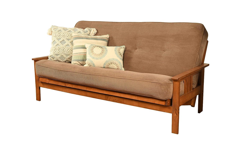 Kodiak Furniture KFMOBBMMOCHLF5MD3 Monterey Futon Set with Barbados Finish, Full, Marmont Mocha