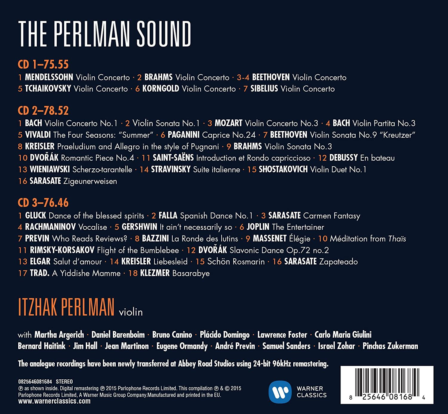 The Perlman Sound: Itzhak Perlman: Amazon.es: Música