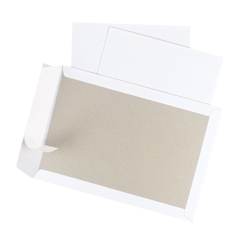 Herlitz Enveloppes B4/10/enveloppes /à patte autocollante 100/g avec int/érieur pression dans d/écran emballage sous vide blanc Lot de 10 blanc