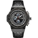 "JBW Men's JB-6101-D ""Saxon"" 18k Gold-Plated Diamond-Accented Watch"