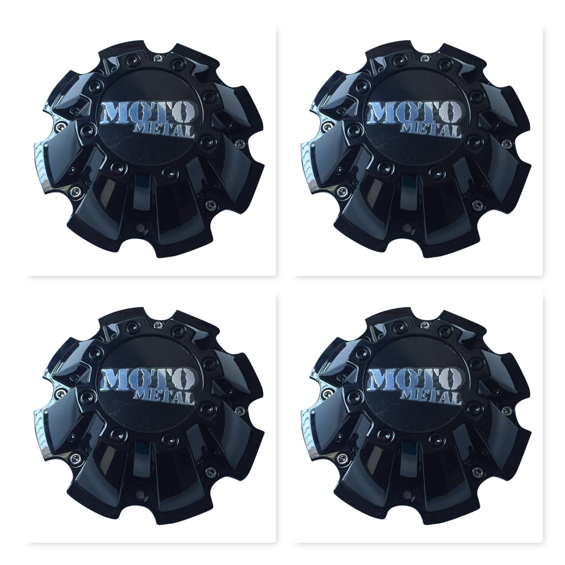 Moto Metal 4 Pack CAP M-793 M793BK01 Black Wheel Center Cap