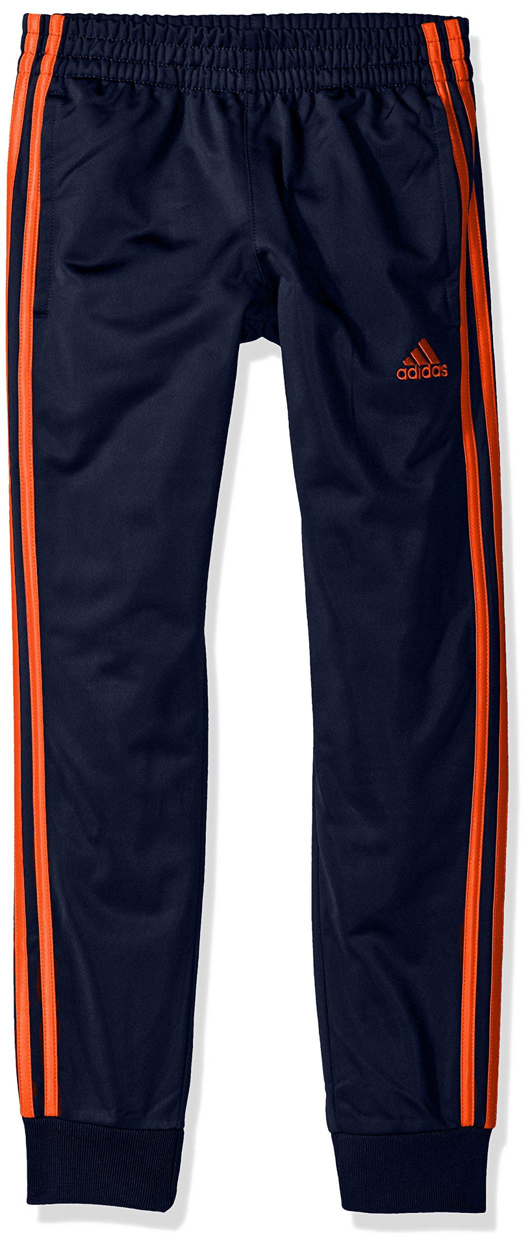 adidas Boys' Big Oldschool Jogger Pant, Navy/Orange OS, S (8/10) by adidas