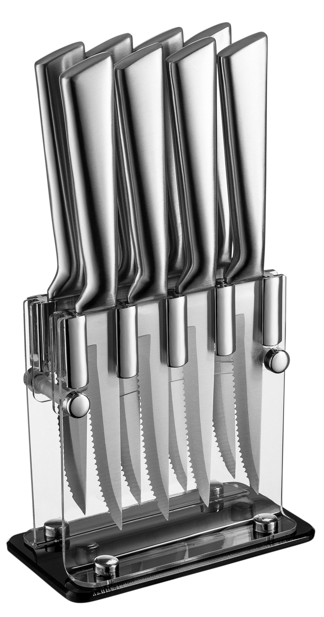 Stainless Steel Steak Knives With Block - High Quality Steak Knife Set Of 8 In Acrylic Stand by Classy Knives (Image #2)
