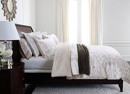 Glamour blanco plata gris juego de ropa de lujo 100% algodón egipcio de funda de