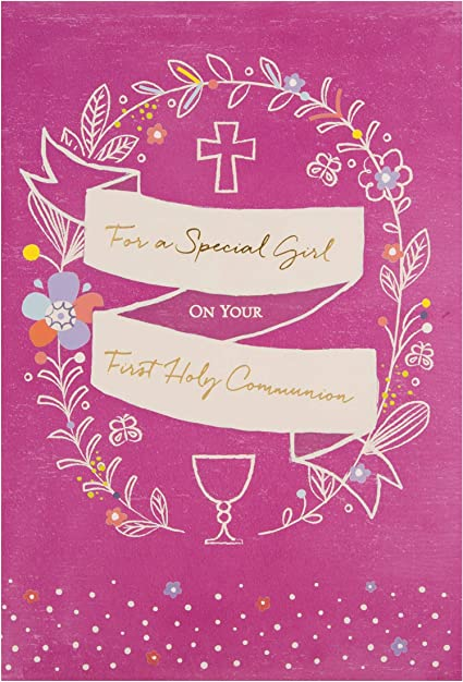 First Communion Simple Gold Foil Greeting Card Quality Cards