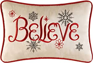 C&F Home Believe Embroidered Petite Pillow 8 x 12 Red