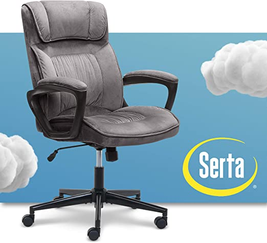 Serta Executive Office Chair Ergonomic Computer Chair - For Better Blood Circulation