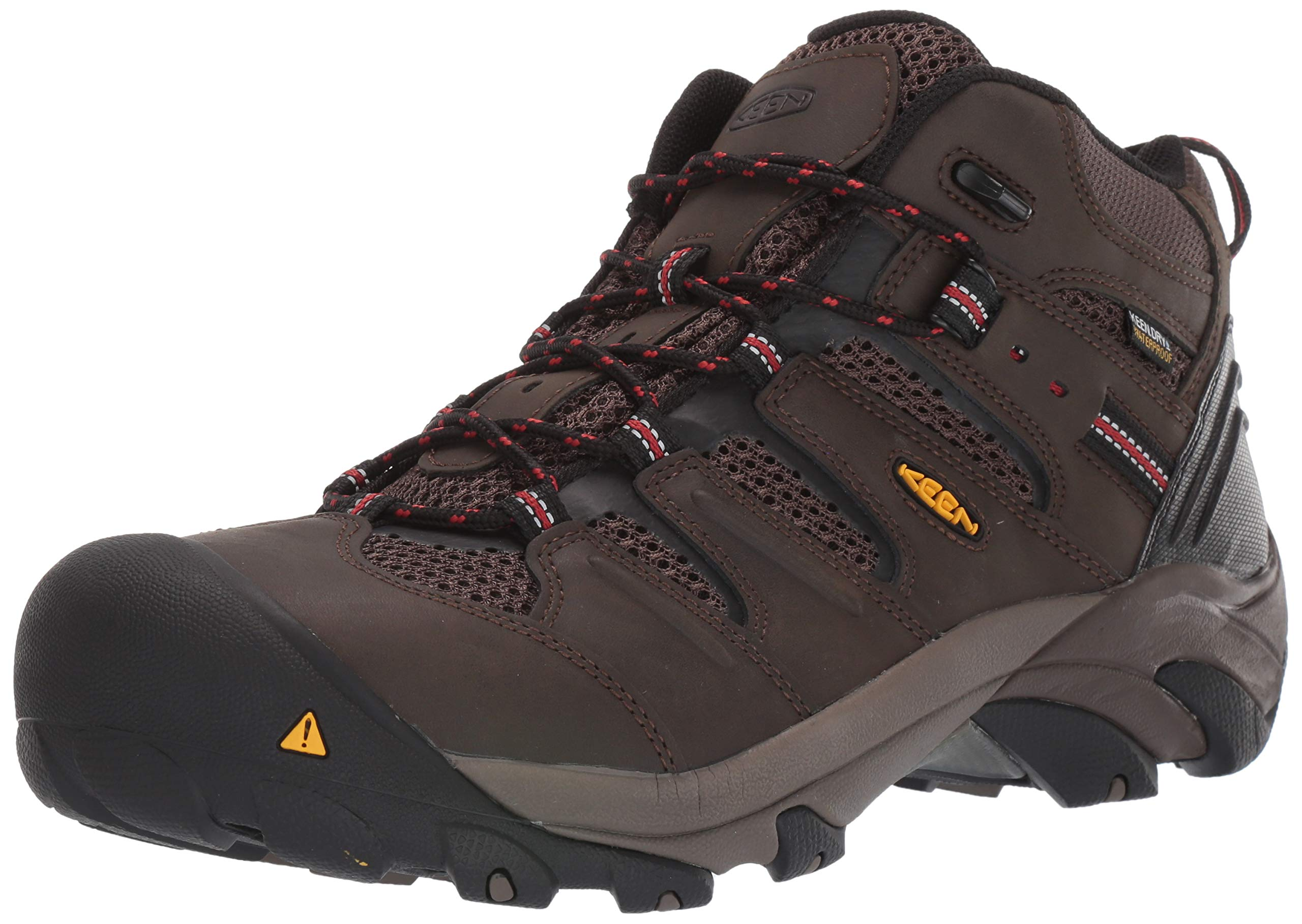 KEEN Utility Men's Lansing Mid WP Industrial Boot ,Cascade Brown/Shiitake, 11 D US by KEEN Utility