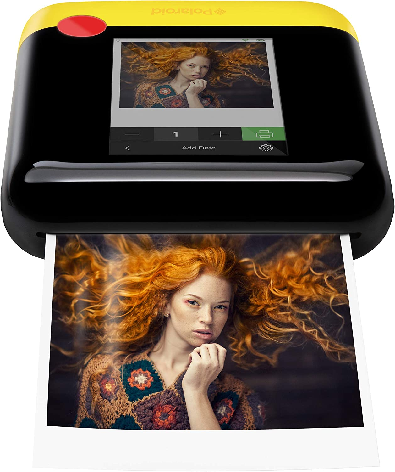 Zink Polaroid WiFi Wireless 3x4 Portable Mobile Photo Printer (Yellow) with LCD Touch Screen, Compatible w/ iOS & Android