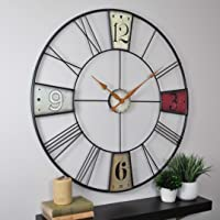 "FirsTime & Co. Vibrant Plaques Wall Clock, 36"", Multicolor"