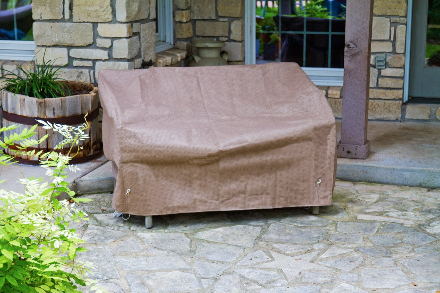 KoverRoos III 39147 Loveseat/Sofa Cover, 51-Inch Width by 33-Inch Diameter by 33-Inch Height, Taupe by KOVERROOS (Image #4)