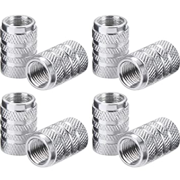 Tapas de Válvulas de Neumático de Coche Tapones de Válvulas de Rueda Tapa de Neumático a Prueba de Polvo, 8 Piezas (Plateado): Amazon.es: Coche y moto