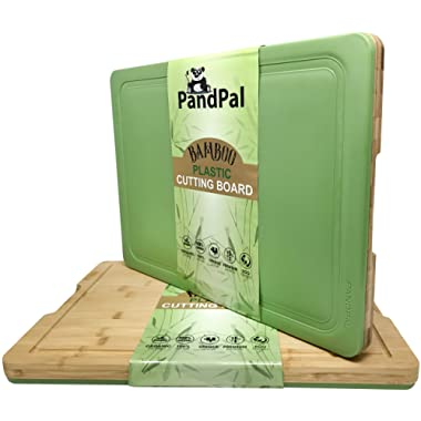Bamboo Polypropylene Hybrid Cutting Boards for Kitchen - EXTRA LARGE 18 x 13 - Cutting Board & Chopping Board for Meat, Cheese, Vegetables | Organic Antimicrobial & Heavy Duty Butcher Block w/Groove