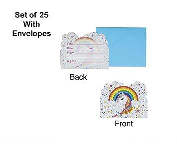 Amazon.com: Unicornio blanco estrella Rainbow fiesta tarjeta ...