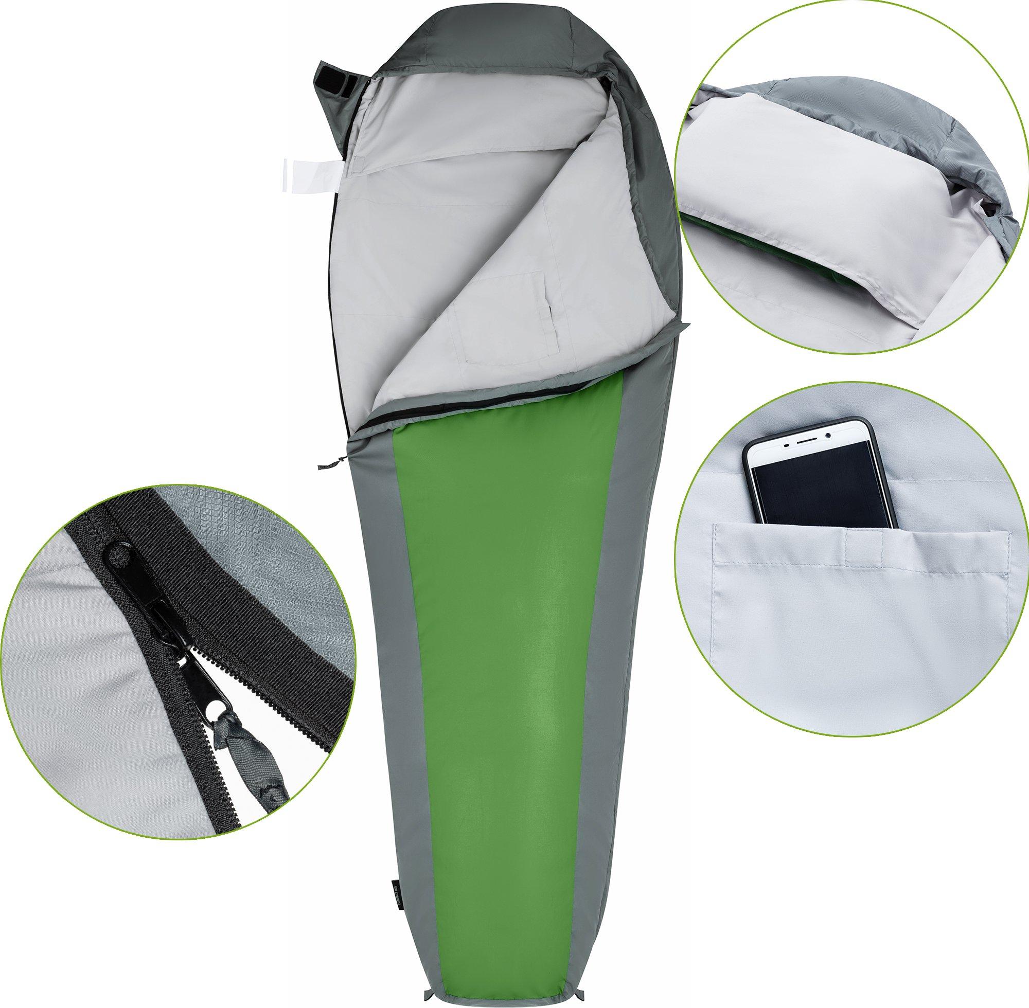 ATEPA Ultra-light Durable Comfort 3-season 32 Degree F Backpacking Camping Envelope Adult Sleeping Bag