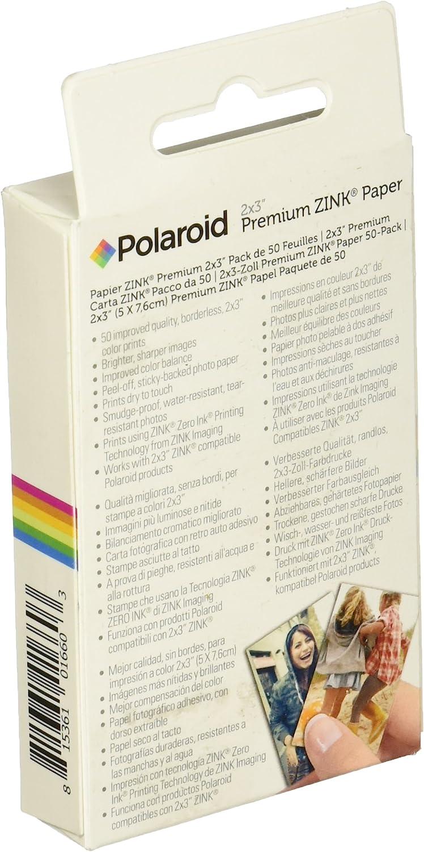 Z2300 50 Blatt SocialMatic Sofortbildkameras Polaroid ZIP Handydrucker mit ZINK Zero tintenfreier Drucktechnologie Blau - Kompatibel mit Polaroid Snap 2x3 Zoll Premium ZINK Fotopapier
